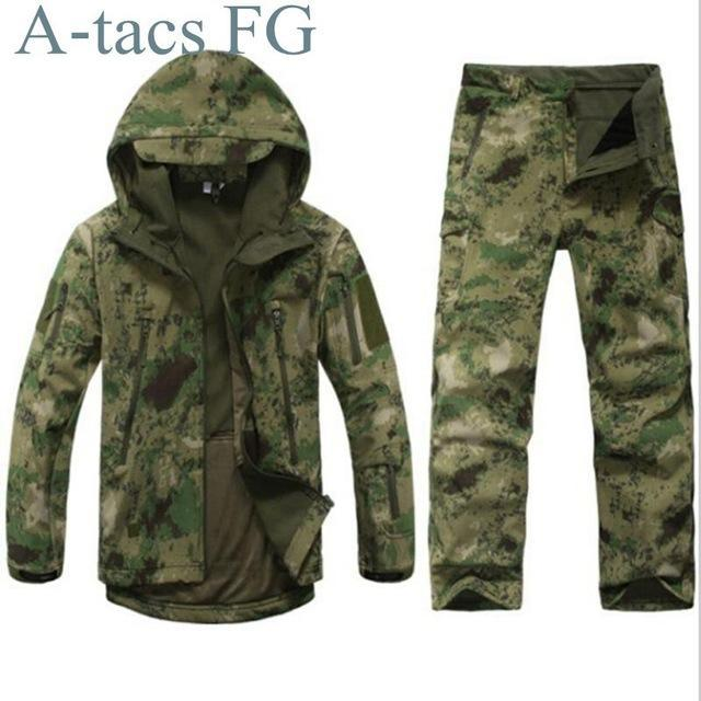 Green Waterprooftactical Uniform Hunting Camo Military Combat Uniform Set-Fishing Suits-Bargain Bait Box-FG-S-Bargain Bait Box