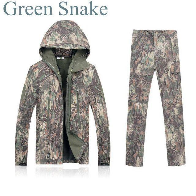 Green Waterprooftactical Uniform Hunting Camo Military Combat Uniform Set-Fishing Suits-Bargain Bait Box-MKGR-S-Bargain Bait Box