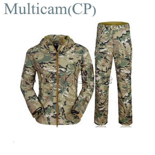 Green Waterprooftactical Uniform Hunting Camo Military Combat Uniform Set-Fishing Suits-Bargain Bait Box-Multicam-S-Bargain Bait Box