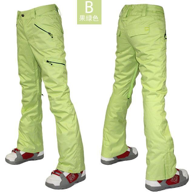 Gsou Snow Womens Gray Ski Pants Female Grey Snowboarding Sking Riding Climbing-Snow Pants-Bargain Bait Box-as shown 2-XS-Bargain Bait Box