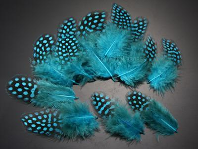 Guinea Hen Feather Hackle Fly Tying Material Hand Selected, 4.5 To 6.5Cm-Fly Tying Materials-Bargain Bait Box-Blue-Bargain Bait Box