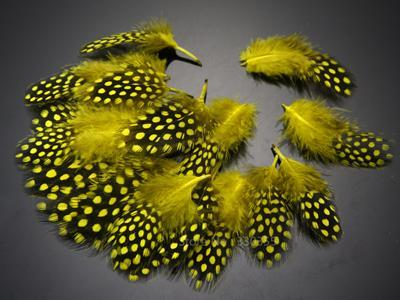 Guinea Hen Feather Hackle Fly Tying Material Hand Selected, 4.5 To 6.5Cm-Fly Tying Materials-Bargain Bait Box-Yellow-Bargain Bait Box