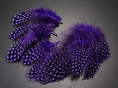 Guinea Hen Feather Saltwater Hackle Fly Tying Material Hand Selected Over 9 Cm-Fly Tying Materials-Bargain Bait Box-Purple-Bargain Bait Box