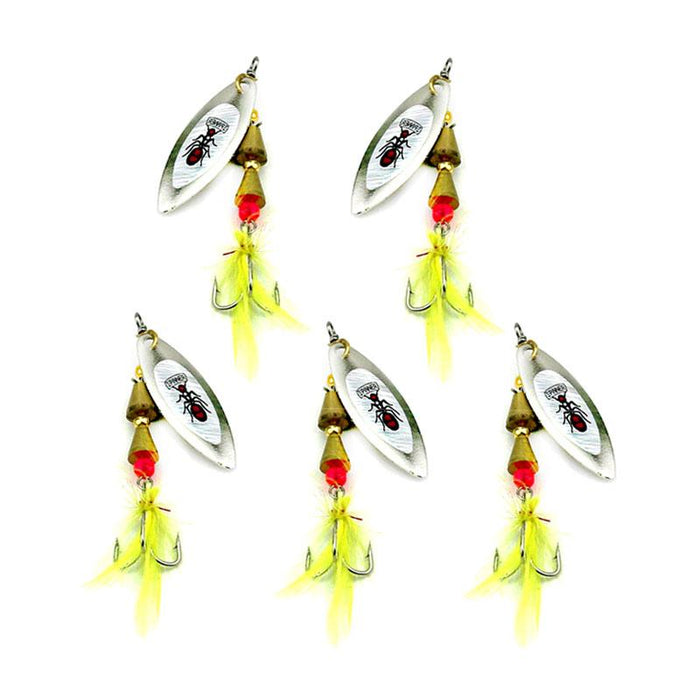 Hard Metal Spinnerbaits Sequins Spinner Spoons Catfish Fishing 7Cm 6G 6#Hooks-Inline Spinners-Bargain Bait Box-Bargain Bait Box