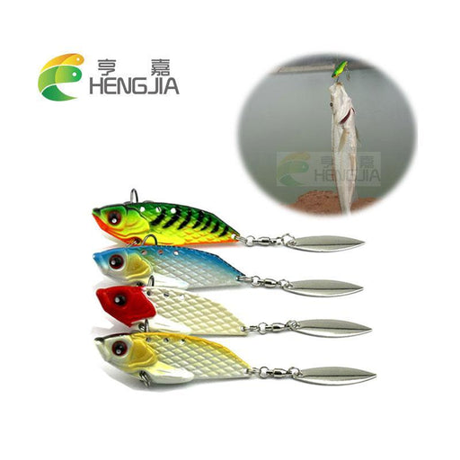 Hard Metal Vib Lures Sinking S Vibration Spinnerbaits Crank Fishing Baits-Panfish Jigs-Bargain Bait Box-Bargain Bait Box