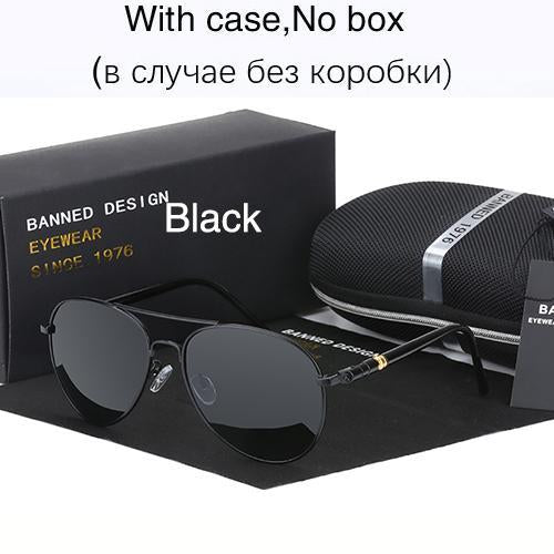 Hd Polarized Sunglasses For Men Aviator Sunglasses Men For Driving Luxury-Polarized Sunglasses-Bargain Bait Box-black-Bargain Bait Box
