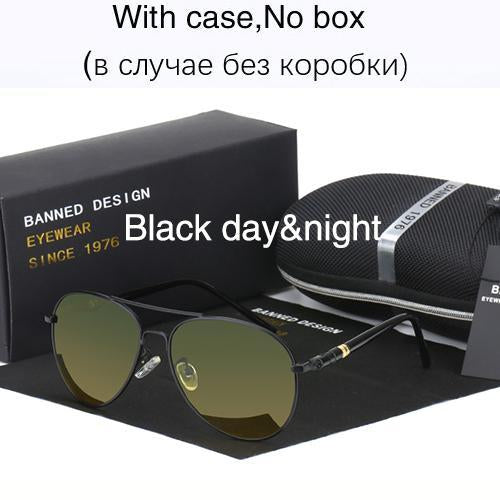 Hd Polarized Sunglasses For Men Aviator Sunglasses Men For Driving Luxury-Polarized Sunglasses-Bargain Bait Box-black day night-Bargain Bait Box