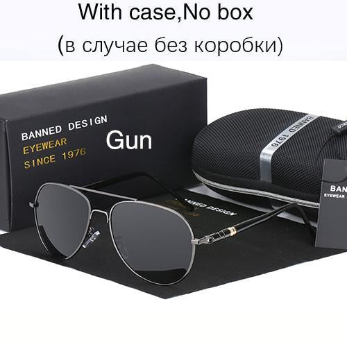 Hd Polarized Sunglasses For Men Aviator Sunglasses Men For Driving Luxury-Polarized Sunglasses-Bargain Bait Box-gun-Bargain Bait Box