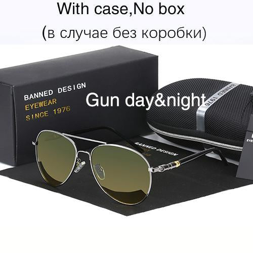 Hd Polarized Sunglasses For Men Aviator Sunglasses Men For Driving Luxury-Polarized Sunglasses-Bargain Bait Box-gun day night-Bargain Bait Box