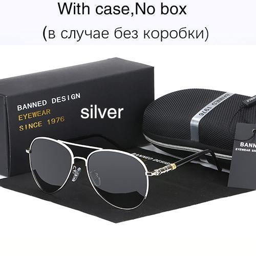 Hd Polarized Sunglasses For Men Aviator Sunglasses Men For Driving Luxury-Polarized Sunglasses-Bargain Bait Box-silver-Bargain Bait Box