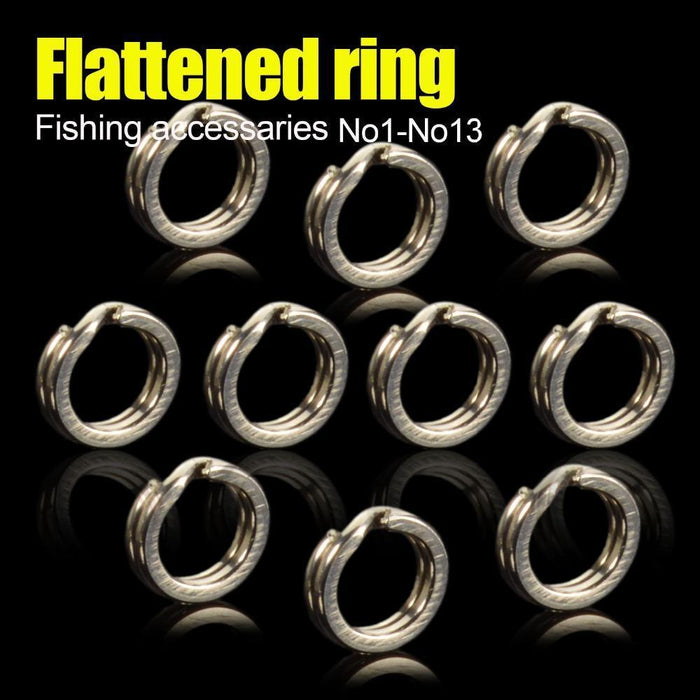 Heavy Duty Stainless Steel Fishing Split Rings For Blank Crank Bait Connectors-Afishlure Official Store-No1-Bargain Bait Box
