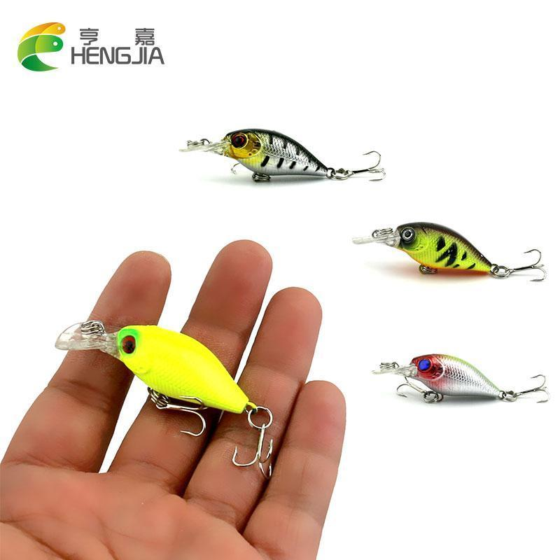 Hengjia 1Pc Mini Crankbait Fishing Lure Crank Bass Bait Pesca Wobblers Hard-HengJia Trade co., Ltd-1-Bargain Bait Box