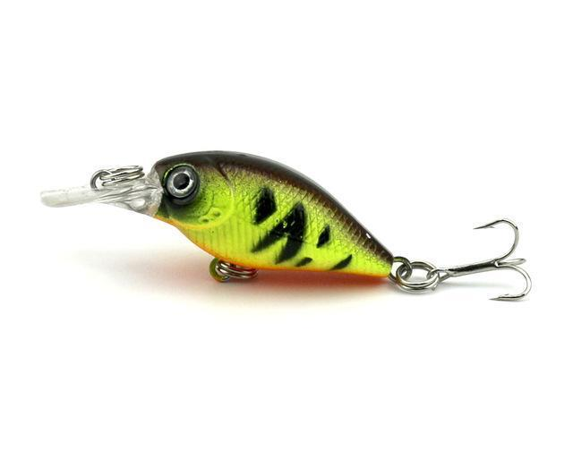 Hengjia 1Pc Mini Crankbait Fishing Lure Crank Bass Bait Pesca Wobblers Hard-HengJia Trade co., Ltd-6-Bargain Bait Box