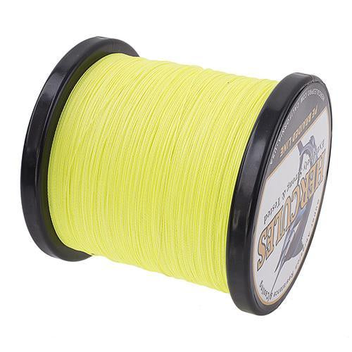 Hercules Fishing Line 1000M 4 Strands Pe Braided Wire Multifilament Weaves Peche-Hercules Pro store-Fluorescent yellow-0.2-Bargain Bait Box