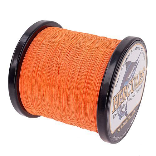 Hercules Fishing Line 1000M 4 Strands Pe Braided Wire Multifilament Weaves Peche-Hercules Pro store-Orange-0.2-Bargain Bait Box