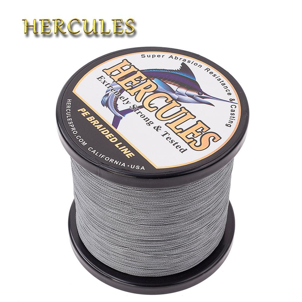 Hercules Fishing Line 1000M 4 Strands Pe Braided Wire Multifilament Weaves Peche-Hercules Pro store-White-0.2-Bargain Bait Box