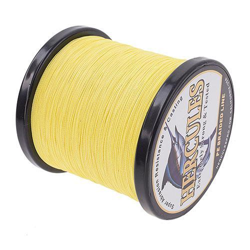 Hercules Fishing Line 1000M 4 Strands Pe Braided Wire Multifilament Weaves Peche-Hercules Pro store-Yellow-0.2-Bargain Bait Box