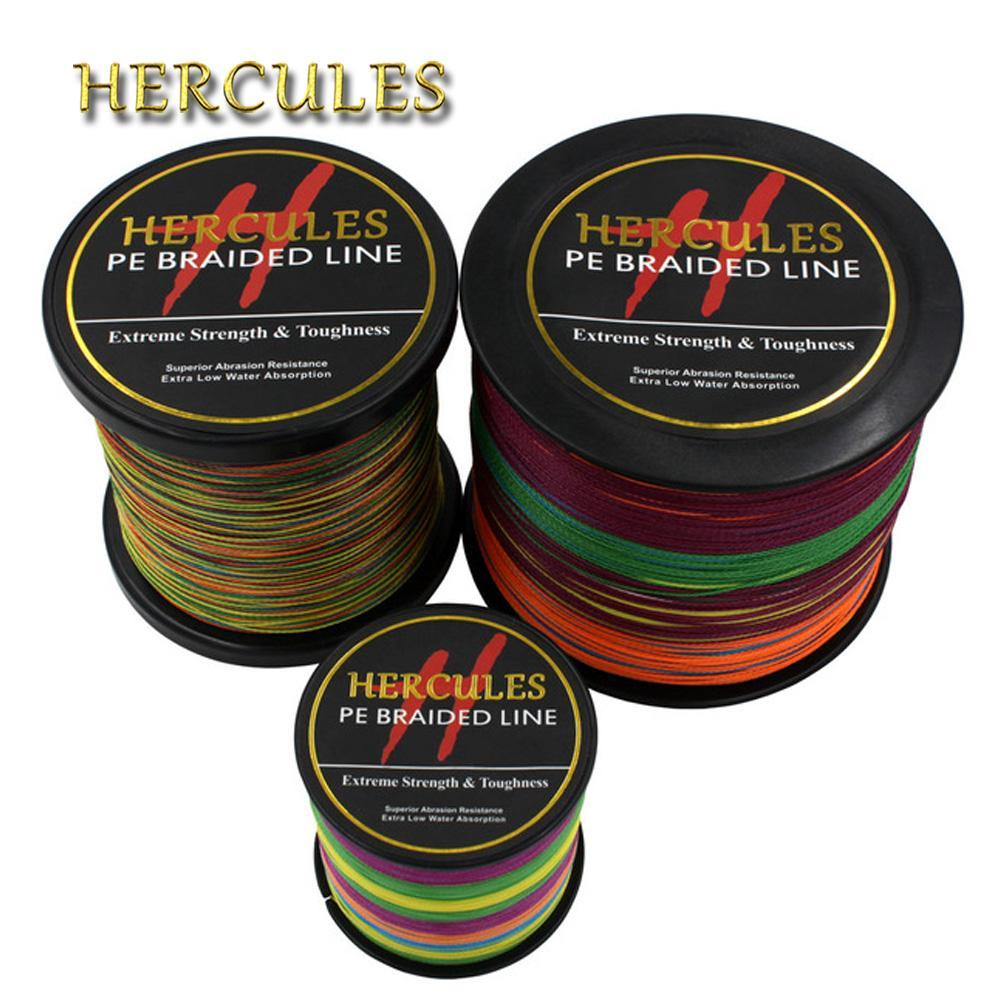 Hercules Pe Braided Fishing Line Multicolor Sea Saltwater Fishing Cord Super-Hercules Pro store-100 Meters-0.2-Bargain Bait Box