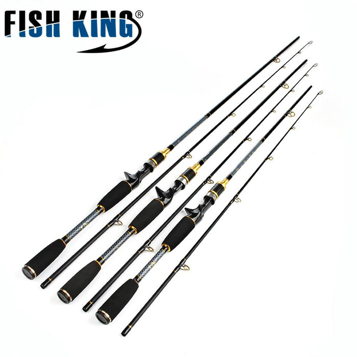 Hi Carbon Baitcasting Fishing Rod 2 Section Soft Rod 1.8M/2.1M/2.4M C.W 10-30G-Baitcasting Rods-Bargain Bait Box-2.4 m-China-Bargain Bait Box