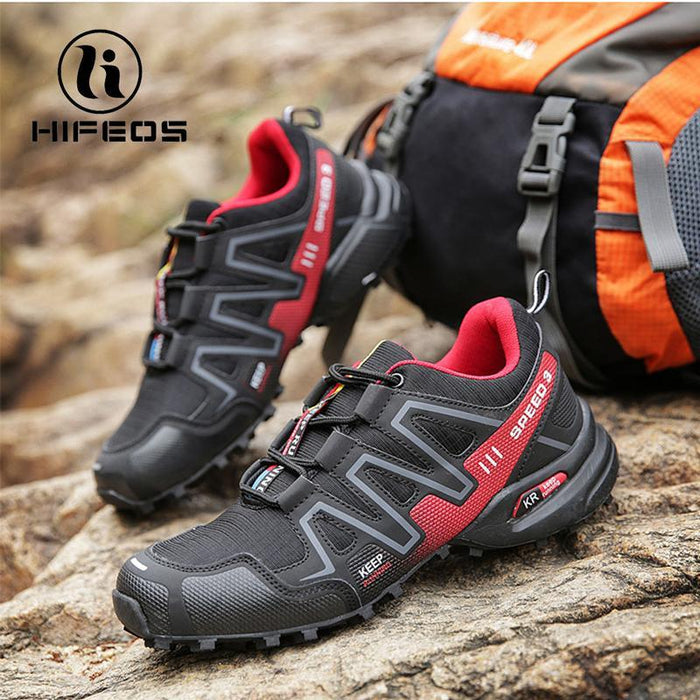Hifeos Hiking Shoes Outdoor Fishing Sneakers For Men Women Sneakers Trekking-HIFEOS Official Store-Dark Red-39-Bargain Bait Box