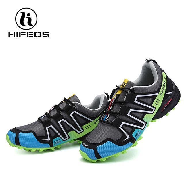 Hifeos Hiking Shoes Outdoor Fishing Sneakers For Men Women Sneakers Trekking-HIFEOS Official Store-Green Gray-39-Bargain Bait Box