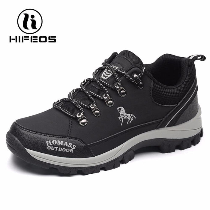 Hifeos Men Tactical Hiking Boots Climbing Sneakers For Waterproof Breathable-HIFEOS Official Store-BLack Design-39-Bargain Bait Box