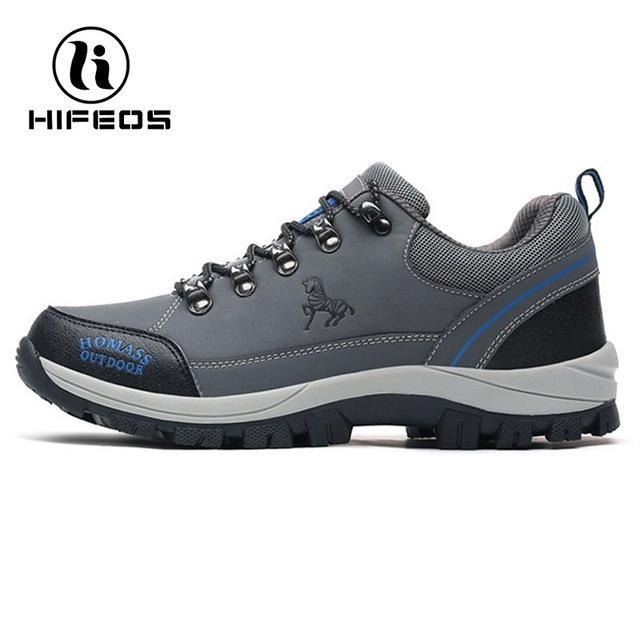 Hifeos Men Tactical Hiking Boots Climbing Sneakers For Waterproof Breathable-HIFEOS Official Store-Gray Design-39-Bargain Bait Box