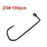 High Carbon Steel Fishing Hook In Size 2/0,3/0 ,4/0 ,6/0 ,7/0 O'Shaughnessy-Jenny's wholesale online store-2-0 100pcs-Bargain Bait Box
