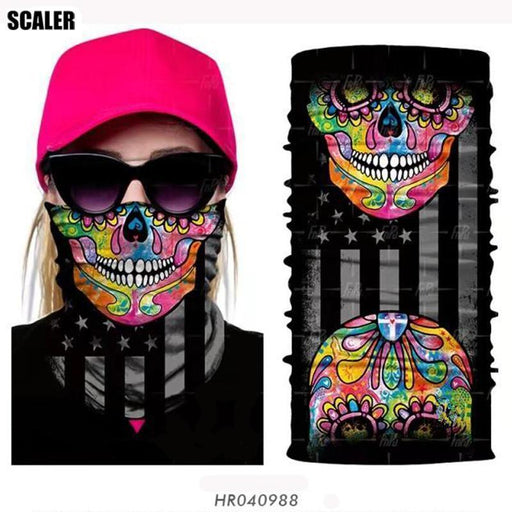 High Elastic 3D Seamless Bandana Scarf Skull Cycling Headwears Women Designs-SCALER Cycling Club Store-HR040244-Bargain Bait Box