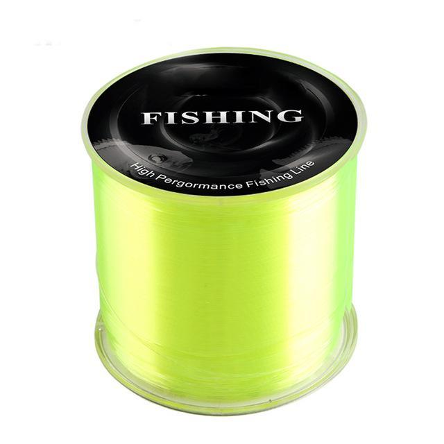 High Pergormance Fishing Line Quality 500M Super Strong 100% Nylon-Fahrenheit01 Store-Yellow-0.6-Bargain Bait Box