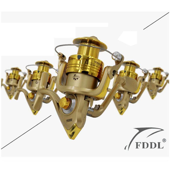 High Quality 5.2:1 Electroplate Spinning Fishing Reel Carp Fishing Wheel-Spinning Reels-HUDA Outdoor Equipment Store-1000 Series-Bargain Bait Box