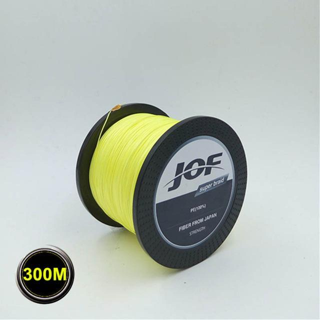 High Quality 8 Strands 300M Super Strong Japan Multifilament Pe 8 Braided-LooDeel Outdoor Sporting Store-Yellow-1.0-Bargain Bait Box