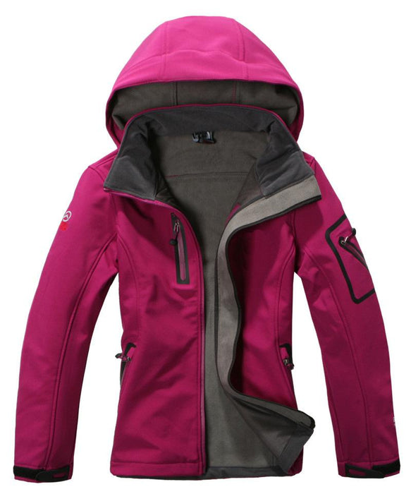 High Quality Brand Woman Outdoor Hiking&Climbing Coat Outdoor Softshell Jacket-Longwolf Camping Store-black-S-Bargain Bait Box