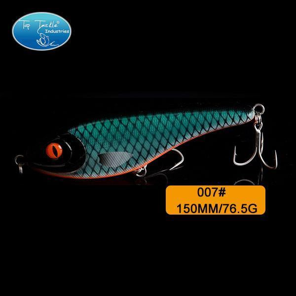 High-Quality Fishing Lure Jerk Bait Fishing Lures 150Mm 76.5G-TOP TACKLE INDUSTRIES-150mm 76g 007-Bargain Bait Box