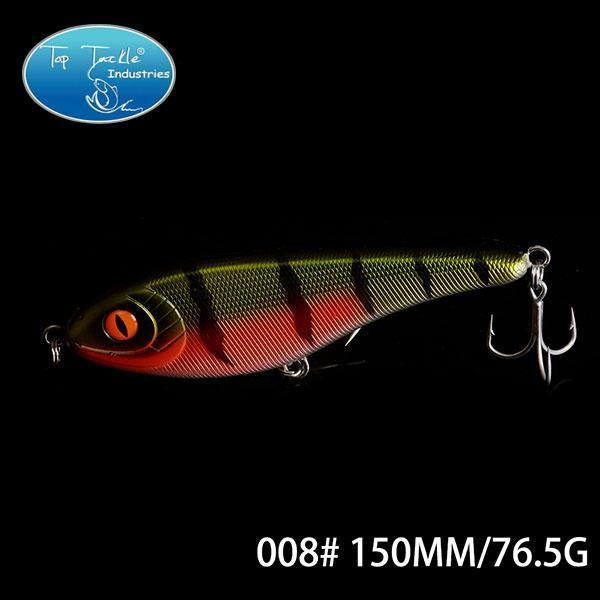 High-Quality Fishing Lure Jerk Bait Fishing Lures 150Mm 76.5G-TOP TACKLE INDUSTRIES-150mm 76g 008-Bargain Bait Box