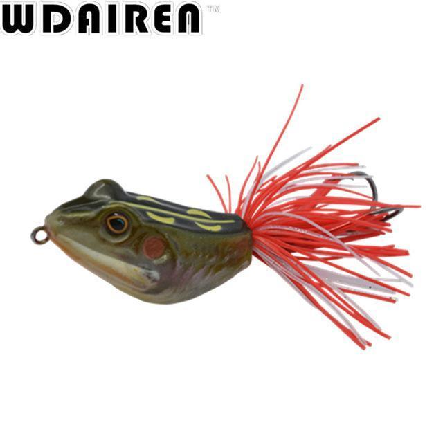 High Quality Kopper Live Target Abs Frog Lure 5Cm 12G Snakehead Lure Topwater-WDAIREN fishing gear Store-B-Bargain Bait Box