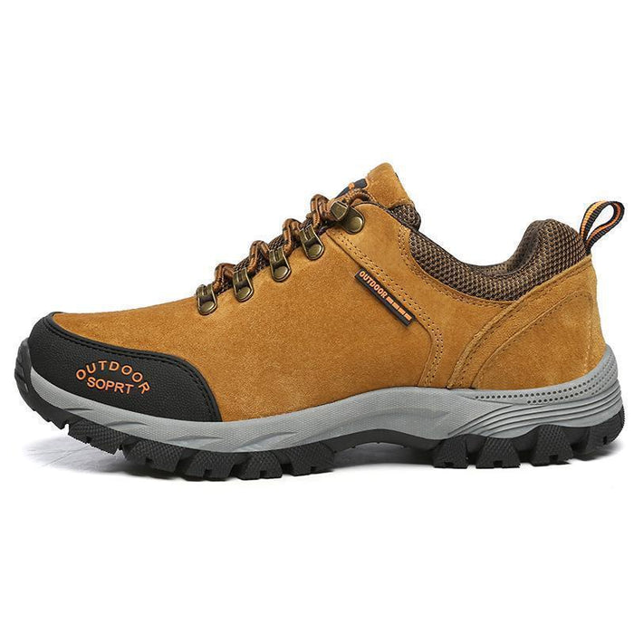 High Quality Men Hiking Shoes Autumn Winter Big Size Us7 11.5 Wear Resistant-Hiking Shoes-QIANDA Official Store-Brown Hiking Shoes-7-Bargain Bait Box