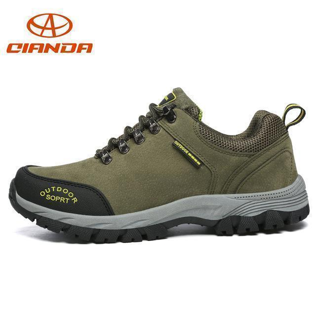 High Quality Men Hiking Shoes Autumn Winter Big Size Us7 11.5 Wear Resistant-Hiking Shoes-QIANDA Official Store-Green Hiking Shoes-7-Bargain Bait Box