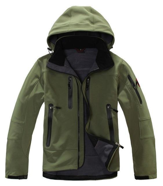 High Quality Oem Brand Men'S Softshell Jacket Softshell Pant Sportswear-Longwolf Camping Store-green-S-Bargain Bait Box