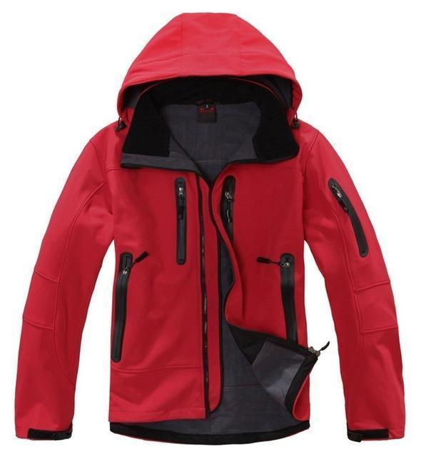 High Quality Oem Brand Men'S Softshell Jacket Softshell Pant Sportswear-Longwolf Camping Store-red-S-Bargain Bait Box