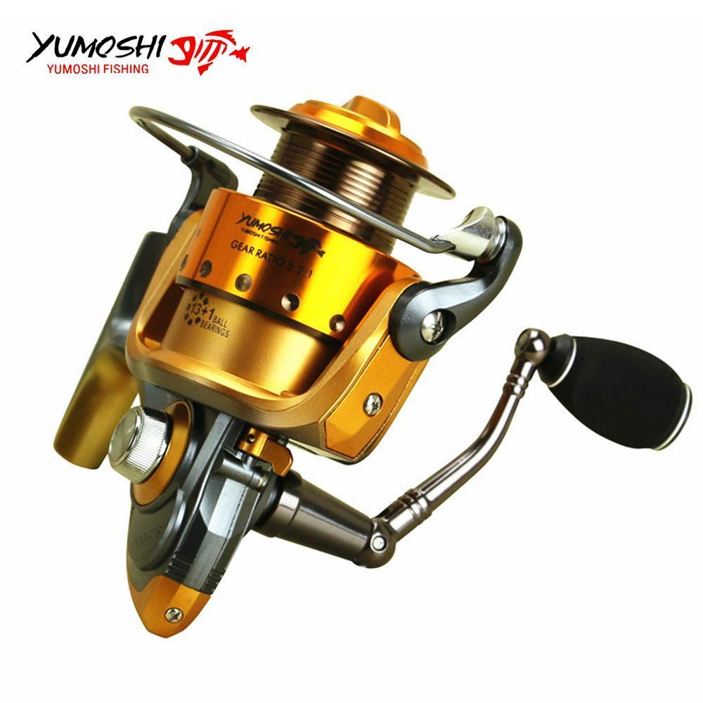 High Quality Spinning Fishing Reel Metallic Spool 13+1Ball Bearing Molinete Para-Spinning Reels-HD Outdoor Equipment Store-2000 Series-Bargain Bait Box