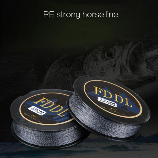High Quality100M Pe Braided Fishing Line 4 Stands Multi-Filament Fishing Line-Beautiful Life Outdoor Store-0.6-Bargain Bait Box