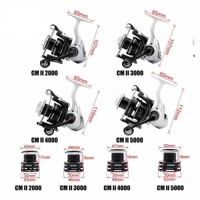 High Speed Spinning Fishing Reel Excellent Quality5.5:1 9+1Bb Cmii 20003000-Spinning Reels-Sequoia Outdoor Co., Ltd-2000 Series-Bargain Bait Box