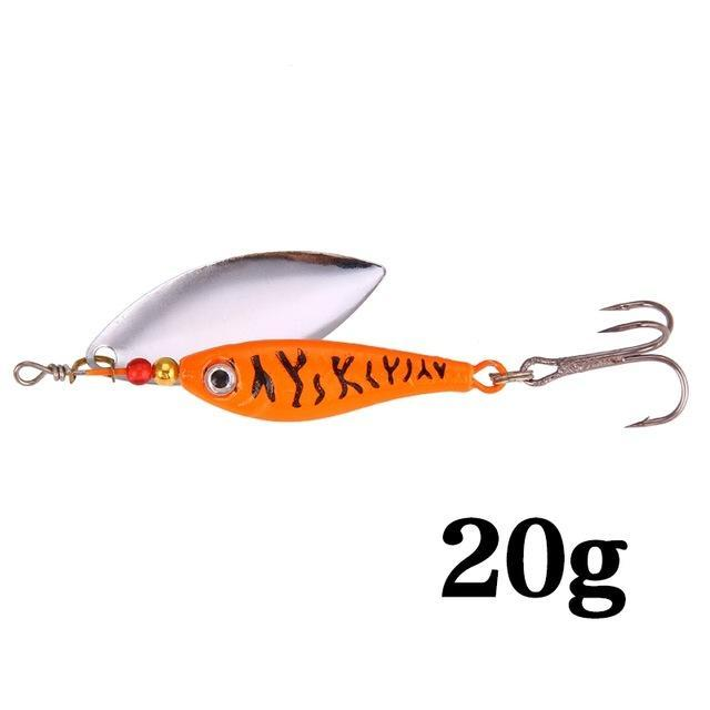 Hight Quality Spinner Spoon Baits Fishing Lure Isca Artificial Pesca 11G 15G 20G-Be a Invincible fishing Store-C-Bargain Bait Box