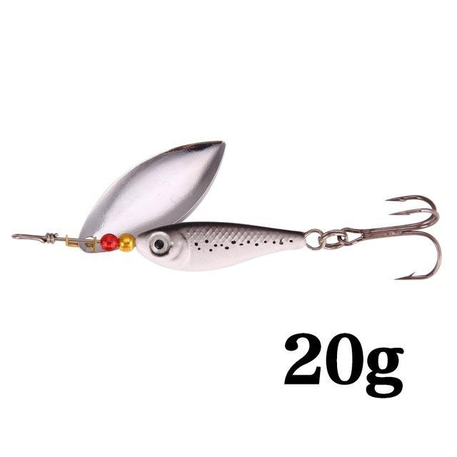 Hight Quality Spinner Spoon Baits Fishing Lure Isca Artificial Pesca 11G 15G 20G-Be a Invincible fishing Store-F-Bargain Bait Box
