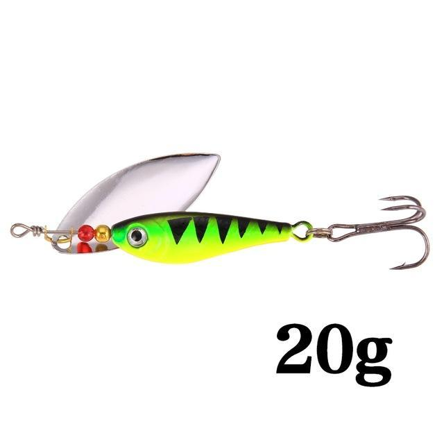 Hight Quality Spinner Spoon Baits Fishing Lure Isca Artificial Pesca 11G 15G 20G-Be a Invincible fishing Store-I-Bargain Bait Box