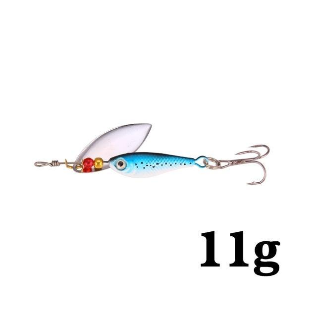 Hight Quality Spinner Spoon Baits Fishing Lure Isca Artificial Pesca 11G 15G 20G-Be a Invincible fishing Store-J-Bargain Bait Box