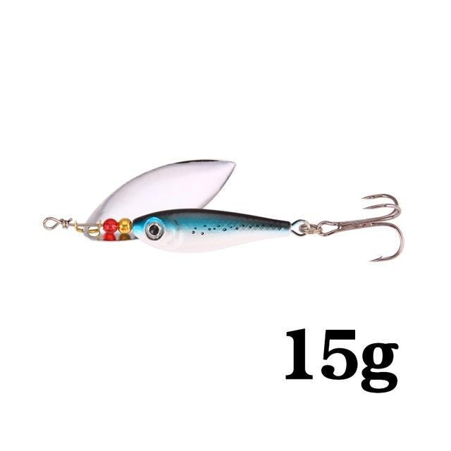 Hight Quality Spinner Spoon Baits Fishing Lure Isca Artificial Pesca 11G 15G 20G-Be a Invincible fishing Store-K-Bargain Bait Box