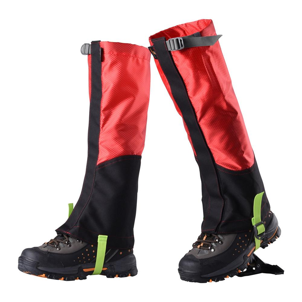 Hiking Climbing Waterproof Snow Gaiters Leg Cover Boot Legging Wrap For-Gaiters-Bargain Bait Box-Black-China-Bargain Bait Box