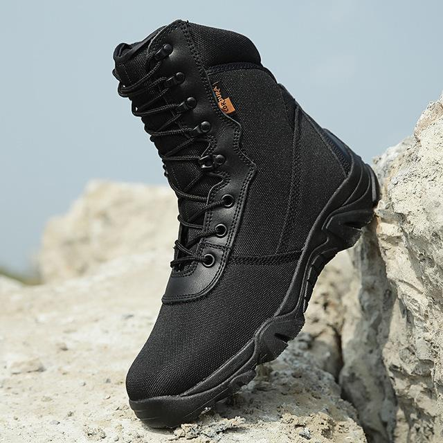 Hiking Shoes Men Military Tactical Combat Boots Hunting Shoes Chaussure Chasse-Boots-Bargain Bait Box-Black-7-Bargain Bait Box